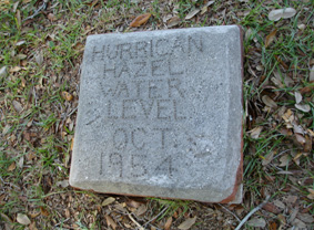 Hurricane Hazel Water Level